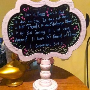 Decorative sign can write any message on